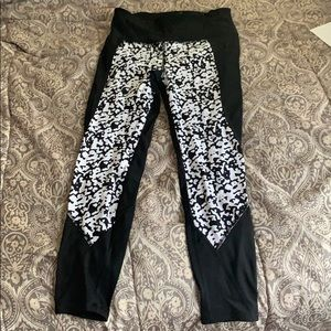 Black and white athletic pants